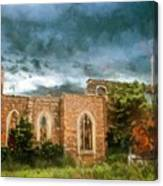 Ruins Under Stormy Clouds Canvas Print
