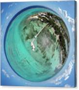 Rum Point Little Planet Canvas Print