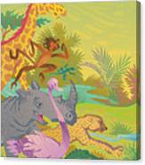 Run For The Zoo Canvas Print