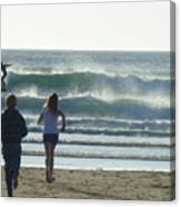Run To The Surf Canvas Print