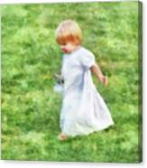 Running Barefoot In The Grass Canvas Print