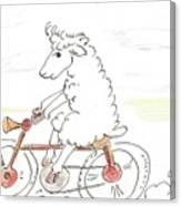 Running Cyclist Cheep Canvas Print