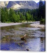 Running Eagle Creek Glacier National Park Canvas Print
