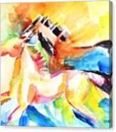 Running Horses Color Canvas Print