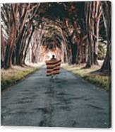 Running In The Forest Canvas Print