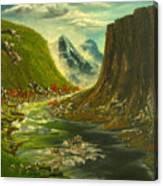 Running River Falls Canvas Print