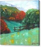 Rural Autumn Landscape Canvas Print