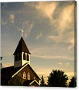 Rural Church Canvas Print