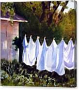 Rural Laundromat Canvas Print
