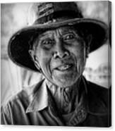 Rural Rice Farmer Canvas Print