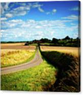 Rural Road In France Canvas Print