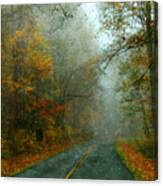 Rural Road In North Carolina With Autumn Colors Canvas Print