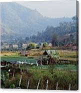 Rural Scene Near Chiang Mai, Thailand Canvas Print