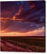 Rural Sunset Beauty Canvas Print