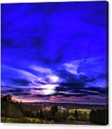 Rural Sunset Panorama Canvas Print