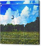 Rural Water Tower Unconventional Canvas Print