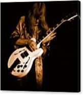 Rush 77 #15 Enhanced In Amber Canvas Print