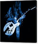 Rush 77 #15 Enhanced In Blue Canvas Print