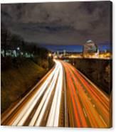 Rush Hour Light Trails Canvas Print
