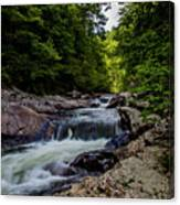 Rushing Falls In The Mountains Canvas Print