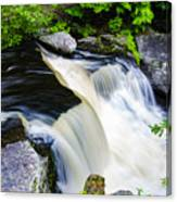 Rushing Water On A Mountain Stream Canvas Print