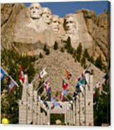 Rushmore State Flags Canvas Print