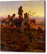 Russell Charles Marion In The Wake Of The Buffalo Hunters Canvas Print