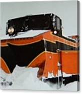Russell Train Snow Plow Canvas Print