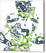 Russell Wilson Seattle Seahawks Pixel Art 10 Canvas Print