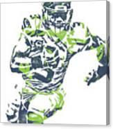 Russell Wilson Seattle Seahawks Pixel Art 12 Canvas Print