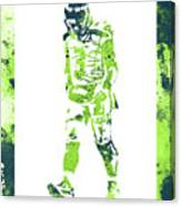 Russell Wilson Seattle Seahawks Water Color Art 2 Canvas Print