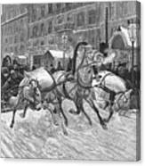 Russia: Troika, 1888 Canvas Print