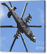 Russian Air Force Ka-52 Helicopter Canvas Print