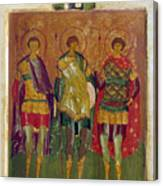 Russian Icon: Saints Canvas Print