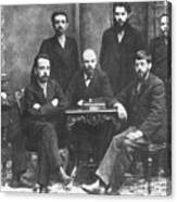 Russian Marxists, 1897 Canvas Print