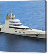 Russian Mega Yacht  A - St Lucia Canvas Print