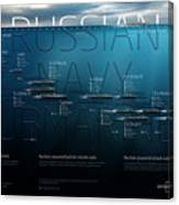 Russian Navy Submarines Infographic Canvas Print