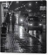 Russian Street Scene At Night 2015 Canvas Print