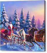Russian Three-horse Canvas Print