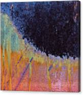 Rust Abstract With Curved Line Canvas Print