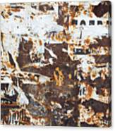 Rust And Torn Paper Posters Canvas Print