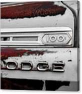 Rust Dodge 6 Selective Color Canvas Print