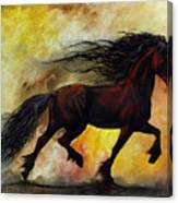 Rust Unicorn Canvas Print