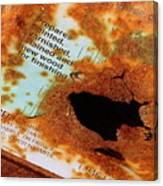 Rust Warning Photograph Canvas Print