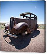 Rusted Old Car On Route 66 Canvas Print