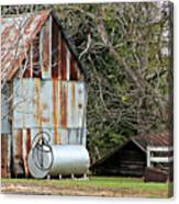 Rusted Tin Shed In Burnt Corn Canvas Print