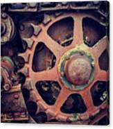 Rusted Tractor Wheel Canvas Print
