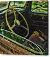 Rusted Truck Window Canvas Print