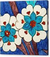 Rustem Pasha Mosque Flower Tile Canvas Print
