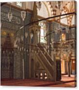 Rustem Pasha Mosque Interior Canvas Print